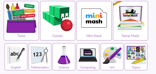 Click on 'games' on your purple mash home screen