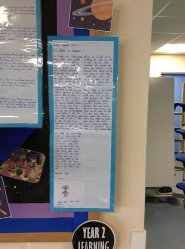 An example of writing from Year 2