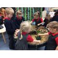Exploring the dinosaur play tray