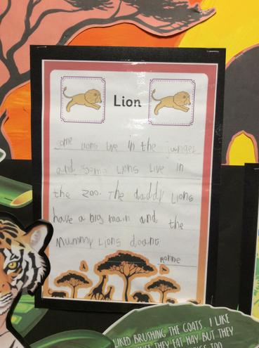 An example of writing from Reception