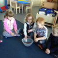 Snack and garden rhyme time