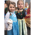 Great Costumes, Elsa and Anna!