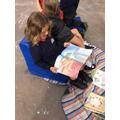 Reading quietly
