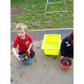 In Maths we learnt about sharing. Bean bag sharing