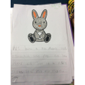 Writing about Nibbles our rabbit.