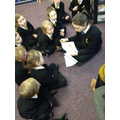 Year 5 eCadet teaching Digi-Duck to Year 1