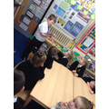 Year 4 eCadet teaching Digi-Duck to Year 1