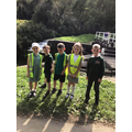 3 Spruce children by the lock.