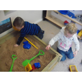 Digging the sand pit!