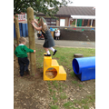 Practising our climbing and balancing skills