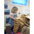 Building towers are lots of fun!