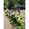 Mr.Wilmott telling the children about how the locks work.