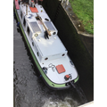 We had the opportunity to see a boat go through the locks.