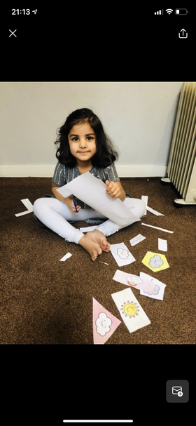 What super cutting skills Inaya well done 👍