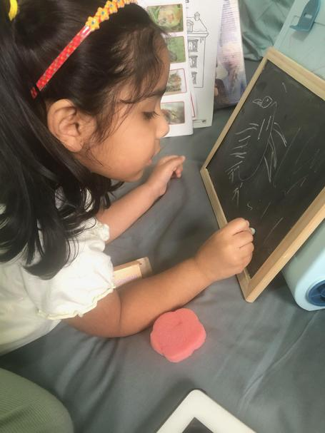Eshal has been drawing pictures of the animals from this weeks story!