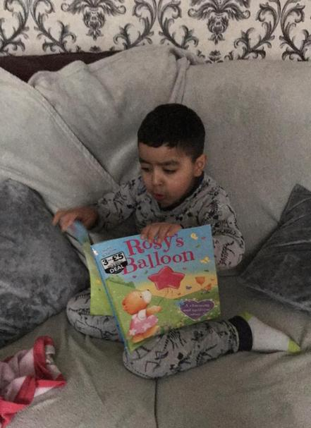 Yaqub has been enjoying reading at home
