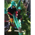 Teamwork to get in the hammock