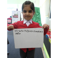 'I can write my numbers'