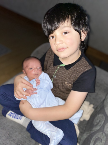 A huge congratulations on Umar's family! As you can see Umar is now a proud big brother!