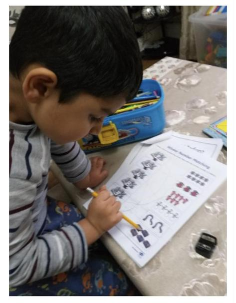 Zayne has been working so hard on his number work.