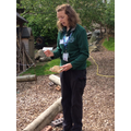 Alison from the Ernest Cook Trust came to visit our forest school