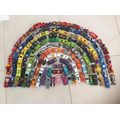 This amazing toy car rainbow was sent in by email!