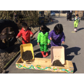 Filling our planters