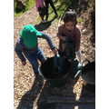 Learning how to best fill our watering cans