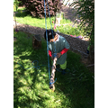 Threading our new rope swing