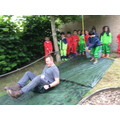 Purely for safety purposes, Mr Howarth had to 'test' the slide