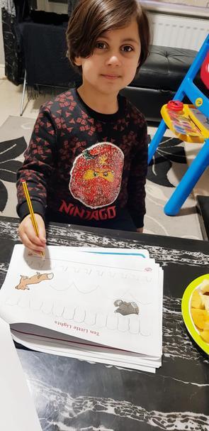 Abdullah-Hadi has been practising his pencil control! Keep it up 👍