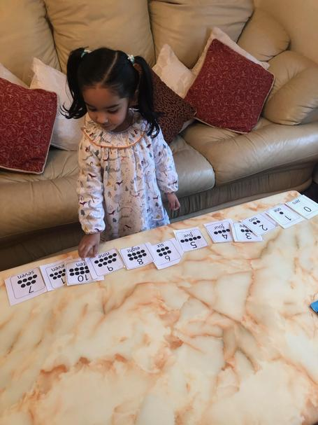 Eshal managed to find all of the numbers bees and order them correctly 🌟