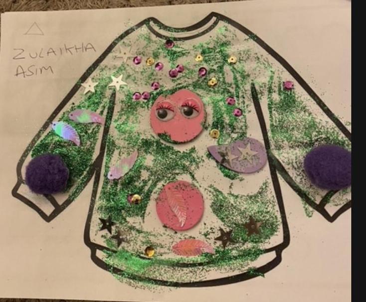Zulaikah has made a wonderful winter jumper ❄️