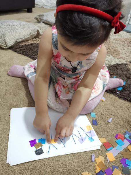 Anaya has been practising writing her name this week! How creative ⭐️🌟