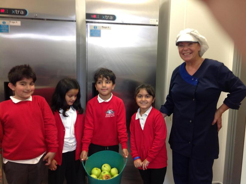 Miss Mariam gave us some ideas for recipes.