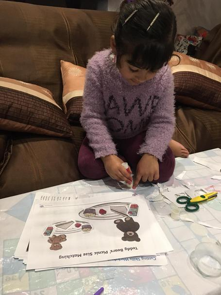 Anayah has carefully sorted the bug and small items