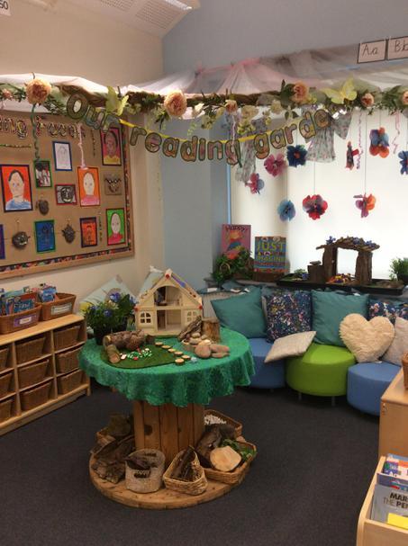 Visit Class 4's reading garden