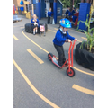 Riding the scooter safely