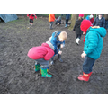 We love making mud soup!