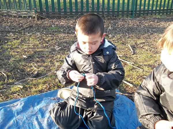 Tying knots at Forest School
