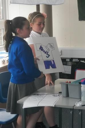 Making & presenting our product with the logos