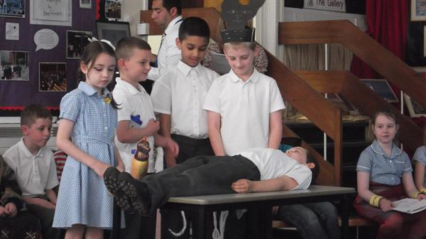 Poor Jack being Mummified!