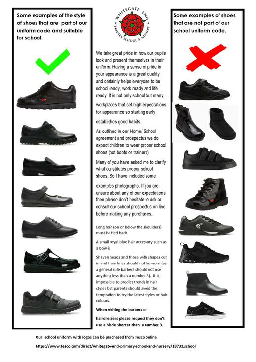 Examples of school shoes