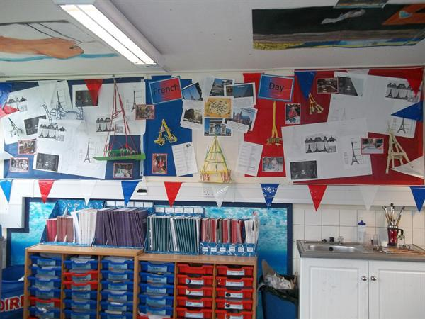 French Day display in Year 6