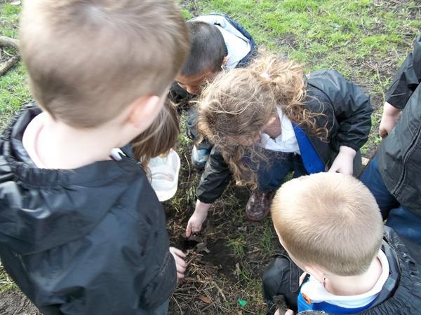 2/3/12 -Let's make some Forest School 'mud soup!'