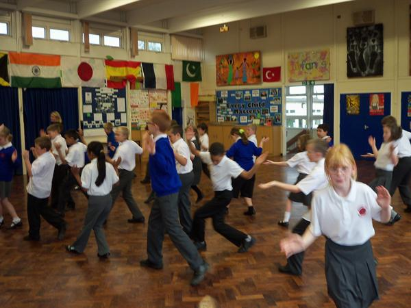 We learned how to dance to bangra music