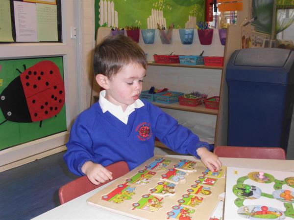 James had fun doing jigsaw puzzles.