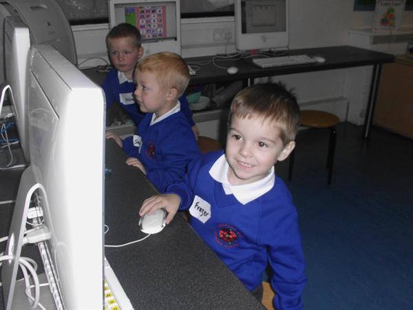 Frazer enjoyed the programmes on the computer