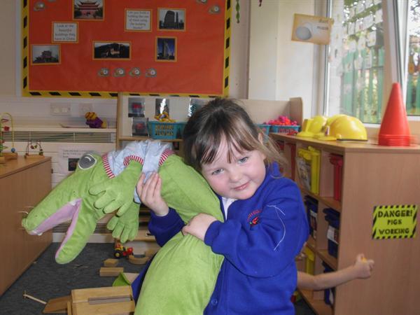 Emily made a good friend with Mr crocodile.