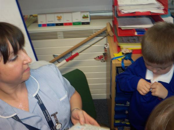 Mrs Camkin the midwife visits!
